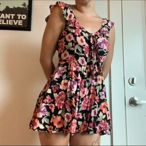 FLORAL URBAN OUTFITTERS ROMPER